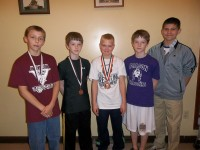 2012 Area V Medal Winners