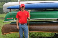Brian Pfister of Bradford recently started a new guide service – B's Canoe Guiding Service – which takes people on canoe trips on the Tunungwant Creek.