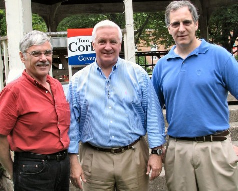 Paul Heimel and Doug Morley with Tom Corbett