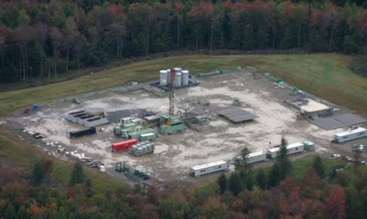 Natural Gas drilling pad